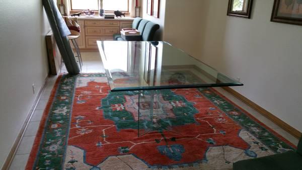 Photo FREE 4 ft x 8 ft Glass Table Top w Beveled Edge PICK UP THURS, 116 (Denver)