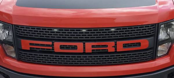 Photo Gen 1 Ford Raptor RED Grill Decal - $15 (Green Valley Ranch)