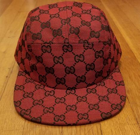 Photo Gucci Custom Red Monogram 5 Panel Hat - $100 (Denver)