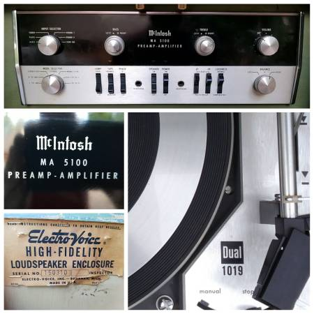 Photo McIntosh MA 5100 With Dual 1019 Turntable and Electro-Voice Speakers - $1,440 (Arvada)