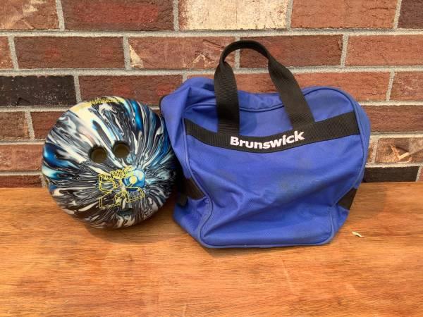 Photo Planet X Brunswick Bag Radical Urethane Intel Black Blue Swirl Bowling Ball 10l - $20 (Westminster)