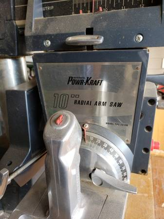 Photo Power Craft 10quot Radial Arm System - $125 (South West Denver)