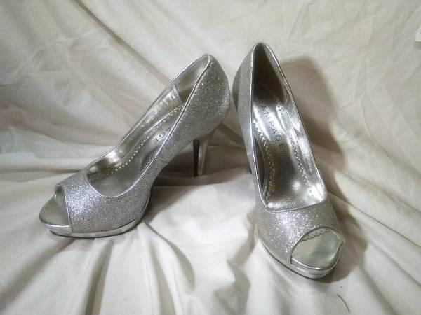 Photo Silver Sparkling Heels - $12 (Southeast Denver)