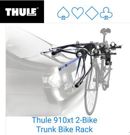 Photo Thule trunk bike rack, 2 bicycle carrier - $75 (Lakewood)