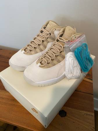 Photo air jordan 10 solefly Limited Edition Nike Size 7 New Miami Colors DS DSWT - $350 (Denver)
