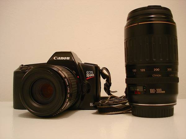 Photo canon eos rebel ll film camera - $40 (denver)