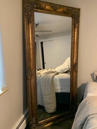 Photo gold full length mirror - $150 (Washington Park)