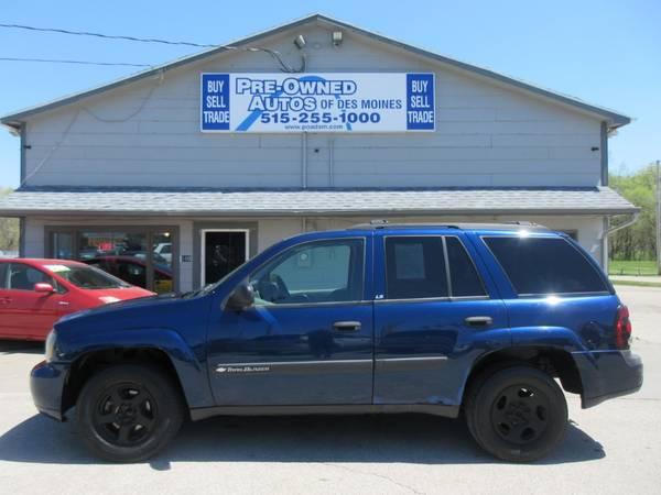 Photo 2004 Chevrolet Trailblazer LS 4WD - Automatic - Wheels - V6 - SALE - $3,200 (Pre-Owned Autos of Des Moines)