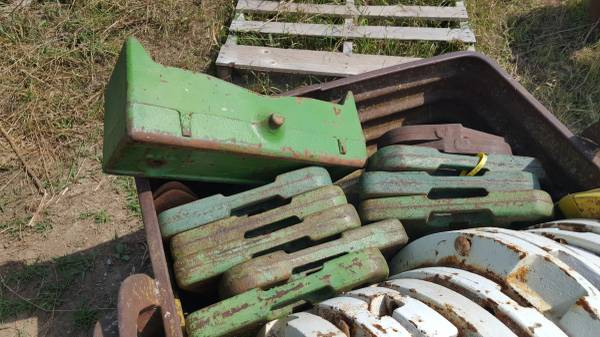 Photo 4 John Deere Front Suitcase Weights - $90 (Persia Iowa)