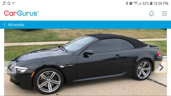 Photo BMW M6 CONVERTIBLE V10 500HP STICKER PRICE $117,500VERY SHARP - $25999 (Carroll, Iowa)