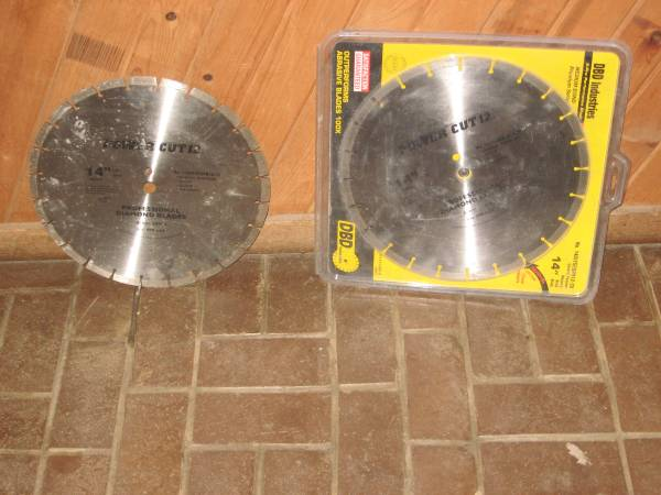 Photo Diamond blades for masonry - $240 (W.D.M. Valley Junction)