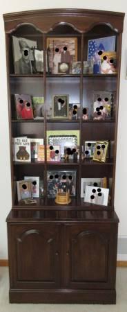 Photo Ethan Allen Bookcase Cabinet Shelf vintage - $195 (West Des Moines, Iowa)