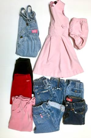 Photo Girls 2T Baby Gap Velvet Dress, Esprit Pants  Jeans-Levi, Lee, B39gosh - $15 (Des Moines)
