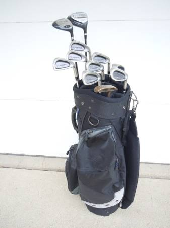 Photo Mens Lynx Golf Clubs, Great Bag, Perfect Starter Set - $85 (Johnston, IA)