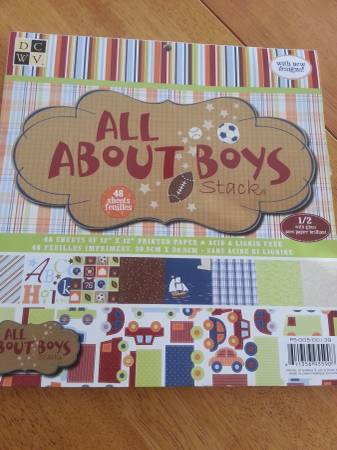 Photo NEW Scrapbook paper booklet- ALL ABOUT BOYS - $10 (Waukee)