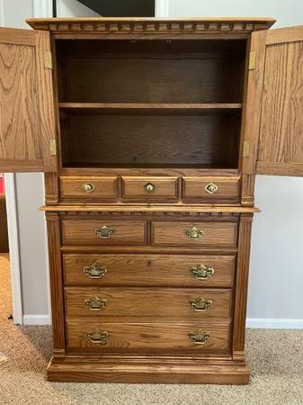 Photo Oak armoire dresser - $200