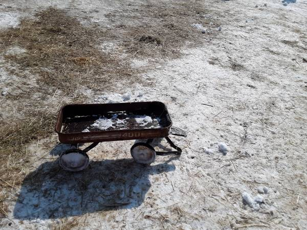 Photo Old red wagon, mtd 400, rare, decoration or flower bed - $25 (Indianola)