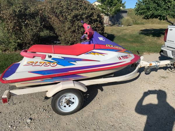 Photo Polaris SL750 jet ski and trailer combo - $1,500 (Iowa city)
