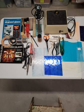 Photo Stained Glass Making Tools and Supplies - $195 (Waukee)