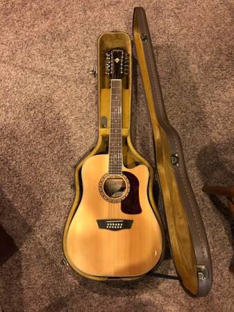 Photo Washburn 12 String Acoustic-Electric Guitar - $475 (Indianola)