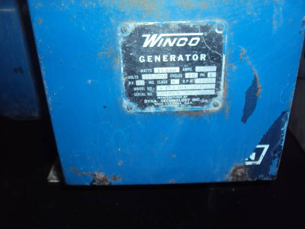 Photo Winco PTO generator - $850 (Cambridge)