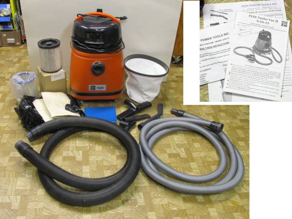 Photo shop vacuum cleaner Fein Turbo II 9-55-13 HEPA filter, EXTRAS - $224 (Urbandale)