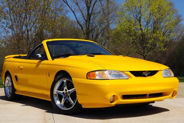Photo 1998 Mustang SVT Cobra Convertible 1 of 550  1-Owner w 10,000 Miles - $19900 (Birmingham, MI)