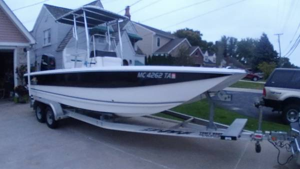 Photo 2007 21 12 foot catamaran, 4 stroke, with trailer, mint condition - $34995 (Harrison Township)