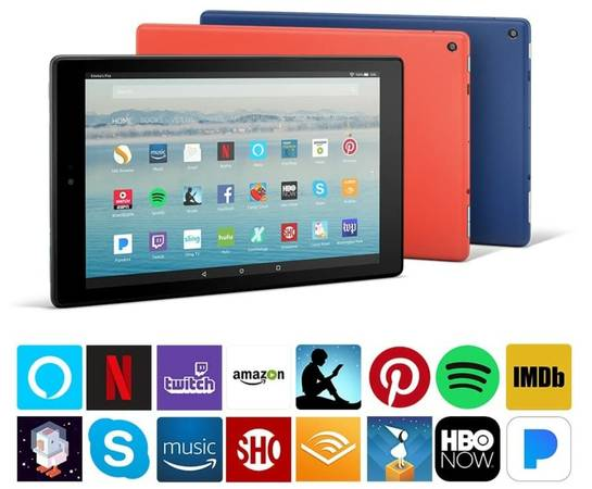 Photo Amazon Fire HD 10 Tablet with Alexa Hands-Free, 10.1quot 1080p Full HD Di - $85 (Westland)