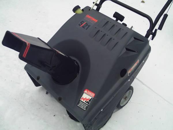 Photo CRAFTSMAN 5 HP 21quot (ELECT. START) SNOWBLOWER - $225 (ST. CLAIR SHORES)