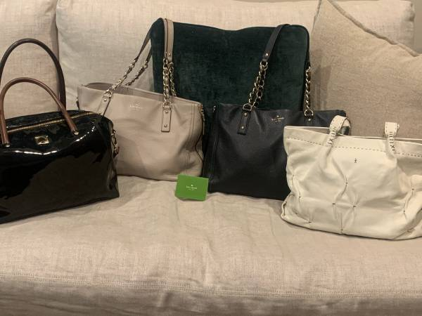 Photo Designer Purses Authentic - 3 Kate Spade and 1 Henry Beguelin - $65 (Troy)