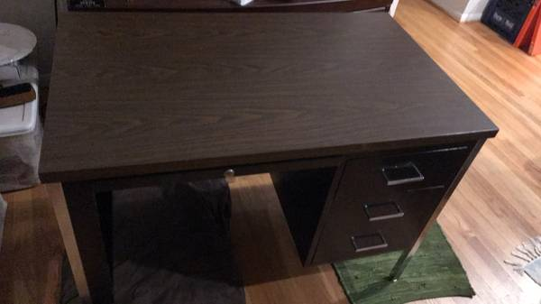 Photo Desk with Letter Size File Cabinet Drawers - $40