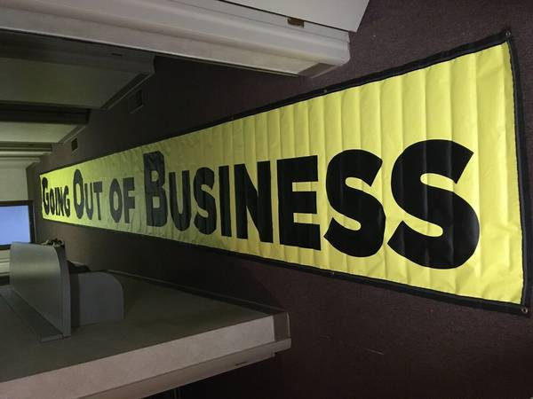 Photo GOING OUT OF BUSINESS Advertising Vinyl Banner Sign LARGE SIZE - BUSI - $70 (Livonia, MI)