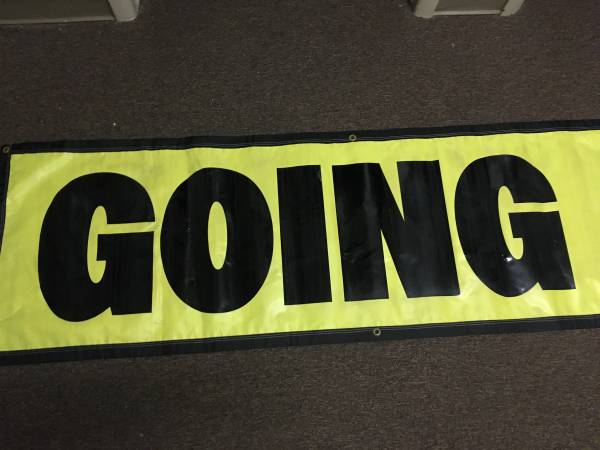 Photo GOING OUT OF BUSINESS Advertising Vinyl Banner Sign LARGE SIZE 2 - B - $45 (Livonia, MI)