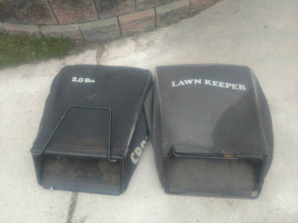 Photo LAWNMOWER BAGGER GRASS BAG BAGS. CRAFTSMAN  LAWN KEEPER - $5 (lChesterfield)