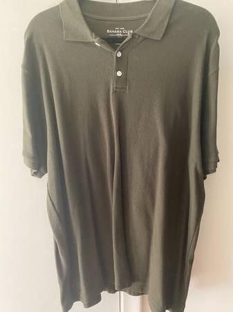 Photo Mens shirt 2XL olive green Sahara Club - $7 (Grosse pointe)