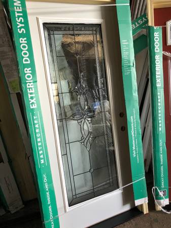 Photo New 36x80 steel exterior door with full decorative glass - $400 (Southfield)