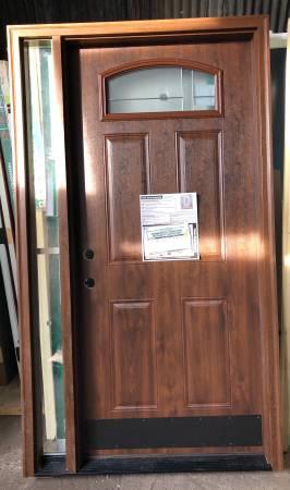 Photo New 45x80 steel exterior door with side lite - $500 (Southfield)