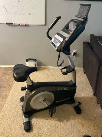 Photo Nordic Track VU19 Upright Stationary Bike - $725 (Troy)