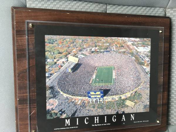 Photo Plaque The Big House U of M 10x 13 $25 - $25 (Waterford)