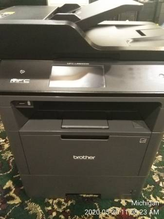 Photo Printer Brother MFC-L6800DW Wireless Black-and-White All-In-One Laser - $250 (Dearborn)