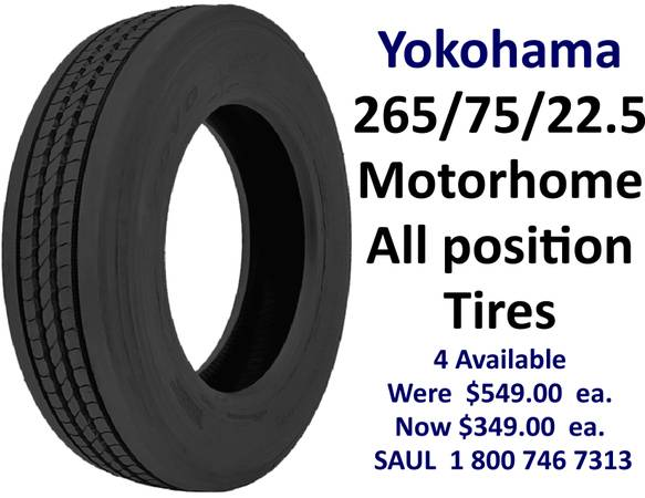 Photo RV NEW Tires for sale - $349 (Southfield)