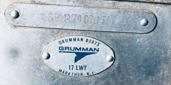 Photo Rare 5-person 1739 Aluminum Canoe-Marathon Boat Group-Grumman Aerospace - $700 (Pine Lake)