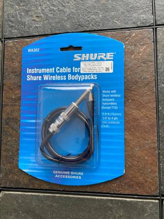 Photo SHURE guitar wireless cable NEW - $10 (Westland)