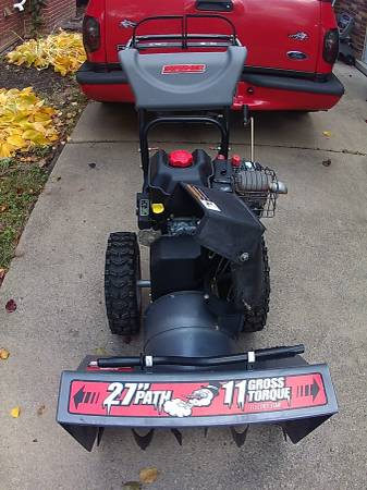 Photo Swisher Two-Stage 11-27 in.- Electric Start Snow Blower - $400 (dearborn)