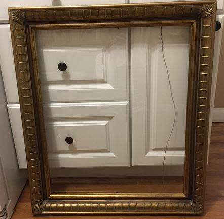 Photo WoodPlaster Frame With Glass Front 29 x 25 inches - $15 (Hazel Park)