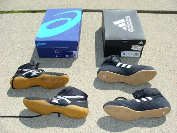 Photo Wrestling Shoes Adidas Size 10  Asics 10.5 - $25 (Canton)
