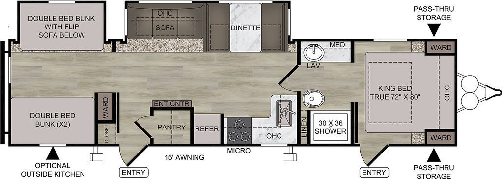 Photo 2020 East To West, Inc. Forest River Wildwood Della Terra 312BH $ 28900