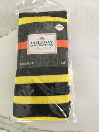 Photo bumblebee, Adult Size Tights, By Holiday Inspiration Age 13 And Up, On - $5 (Bloomfield)