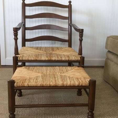 Photo Ballard Designs Chair  Ottoman - $175 (Graceville)